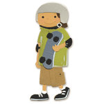 Sizzix - Sizzlits Die - Die Cutting Template - Medium - Boy with Skateboard, CLEARANCE