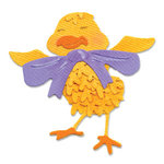 Sizzix - Sizzlits Die - Die Cutting Template - Small - Chick with Bow