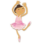 Sizzix - Sizzlits Die - Die Cutting Template - Medium - Girl in Ballerina Costume