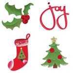 Sizzix - Sizzlits Die - Die Cutting Template - 4 pack - Small - Christmas Set 3, CLEARANCE