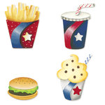 Sizzix - Sizzlits Die - Die Cutting Template - 4 Pack - Small - Fast Food Set