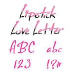 Sizzix - Sizzlits Die - Die Cutting Template - Alphabet Set - 35 Small Dies - Lipstick Love Letters, CLEARANCE
