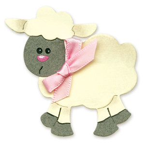 Sizzix - Originals Die - Die Cutting Template - Medium - Sheep 2