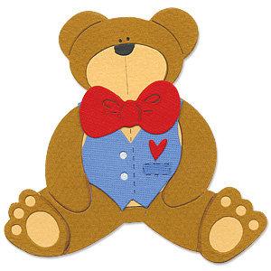 Sizzix - Bigz Die - Die Cutting Template - Teddy Bear 3, CLEARANCE