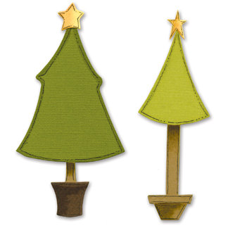 Sizzix - Bigz Die - Die Cutting Template - Christmas Trees, CLEARANCE