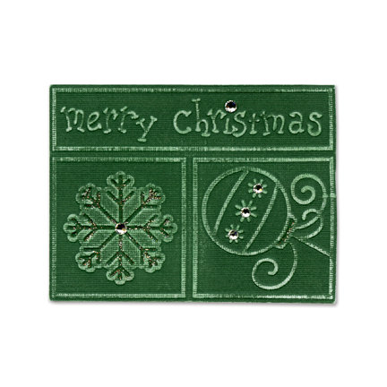 Sizzix - Embosslits Die - Die Cutting Template - Extra Large - Phrase - Merry Christmas with Snowflake and Ornament, CLEARANCE