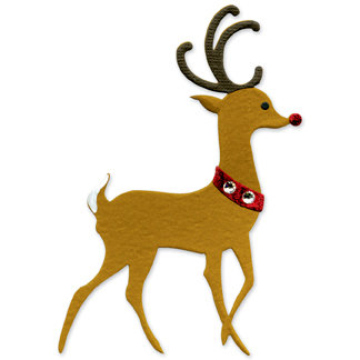 Sizzix - Originals Die - Die Cutting Template - Large - Reindeer, CLEARANCE