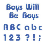 Sizzix - Sizzlits Die - Die Cutting Template - Alphabet Set - 12 Medium Dies - Boys Will Be Boys, CLEARANCE