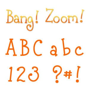 Sizzix - Sizzlits Die - Die Cutting Template - Alphabet Set - 12 Medium Dies - Bang! Zoom!, CLEARANCE