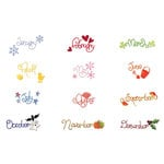 Sizzix - Sizzlits Die - Die Cutting Template - 12 Pack - Medium - Calendar Set