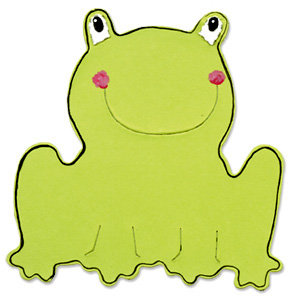 Sizzix - Bigz Die - Die Cutting Template - Frog, CLEARANCE