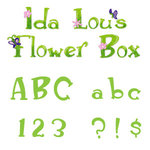 Sizzix - Sizzlits Die - Die Cutting Template - Alphabet Set - 12 Medium Dies - Ida Lou's Flower Box, CLEARANCE