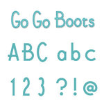 Sizzix - Sizzlits Die - Die Cutting Template - Alphabet Set - 12 Medium Dies - Go Go Boots