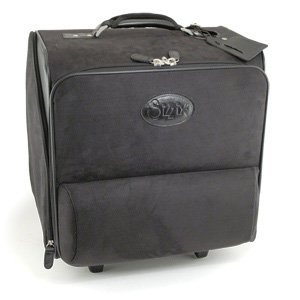 Sizzix - Accessory - Large Rolling Tote - Black with White Stitching