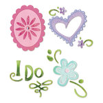 Sizzix - Sizzlits Die - Die Cutting Template - 4 Pack - Small - Joyful Adornments Set, CLEARANCE