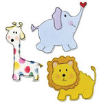 Sizzix - Sizzlits Die - Die Cutting Template - 3 Pack - Small - Baby Animals Set 2, CLEARANCE
