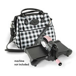 Sizzix - Accessory - Doctor's Bag - Black, White and Pink Plaid