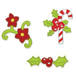 Sizzix - Sizzlits Die - Christmas Collection - Die Cutting Template - 3 Pack Small - Christmas Set 6, CLEARANCE