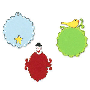 Sizzix - Sizzlits Die - Christmas Collection - Die Cutting Template - 3 Pack Small - Christmas Tags Set, CLEARANCE