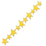 Sizzix - Sizzlits Decorative Strip Die - Christmas Collection - Die Cutting Template - Stars, CLEARANCE