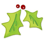 Sizzix - Originals Die - Christmas Collection - Die Cutting Template - Large - Holly Leaves with Berries, CLEARANCE