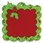 Sizzix - Bigz Die - Christmas Collection - Die Cutting Template - Scallop Frame with Holly