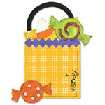 Sizzix - Bigz Die - Die Cutting Template - Halloween - Treat Bag and Candy, CLEARANCE