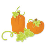 Sizzix - Sizzlits Die - Die Cutting Template - 3 Pack - Small - Halloween - Pumpkins Leaves and Vines Set