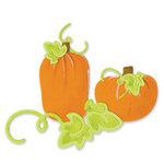 Sizzix - Sizzlits Die - Die Cutting Template - 3 Pack - Small - Halloween - Pumpkins Leaves and Vines Set