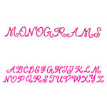 Sizzix - Sizzlits Decorative Strip Die - Die Cutting Template - Alphabet Monograms, CLEARANCE