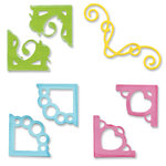 Sizzix - Sizzlits Die - Die Cutting Template - 4 pack - Small - Decorative Corners Set
