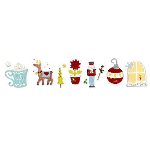 Sizzix - Sizzlits Decorative Strip Die - Die Cutting Template - Christmas Advent Calendar 2, CLEARANCE
