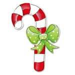 Sizzix - Sizzlits Die - Die Cutting Template - Medium - Candy Cane and Bow