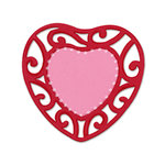 Sizzix - True Love Collection - Bigz Die - Die Cutting Template - Lace Heart Frame