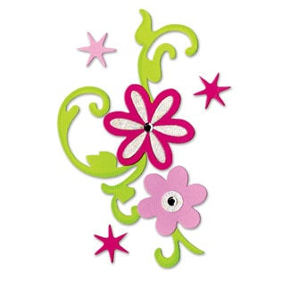 Sizzix - Bigz Die - Hello Kitty Collection - Die Cutting Template - Flower Bouquet