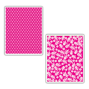 Sizzix - Textured Impressions - Embossing Folders - Dots and Flowers Set