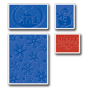 Sizzix - Textured Impressions - Embossing Folders - Christmas Set