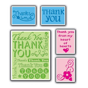 Sizzix - Textured Impressions - Embossing Folders - Thank You Set 2