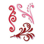 Sizzix - True Love Collection - Sizzlets Die - Die Cutting Template - 3 Pack - Medium - Lovely Flourishes Set, CLEARANCE