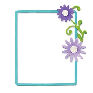 Sizzix - Bigz Die - In Bloom Collection - Die Cutting Template - Rectangle Frame with Flowers and Vine, CLEARANCE