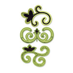 Sizzix - Sizzlits Die - Designer Boutique Collection - Die Cutting Template - Medium - Nesting Swirls Set, CLEARANCE