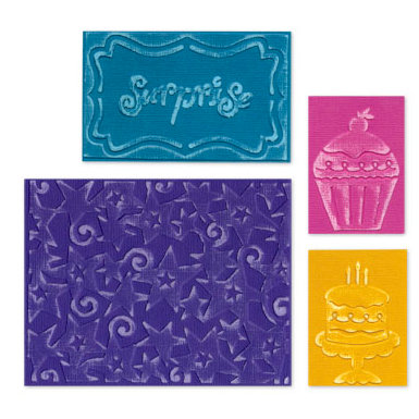 Sizzix - Textured Impressions - Embossing Folders - Birthday Surprise Set