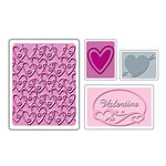 Sizzix - Textured Impressions - Embossing Folders - Valentine Set 2