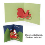 Sizzix - Bigz Die - Christmas Collection - Die Cutting Template - 3-D Pop Up - Sleigh, CLEARANCE