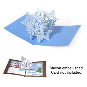 Sizzix - Bigz Die - Christmas Collection - Die Cutting Template - 3-D Pop Up - Snowflake