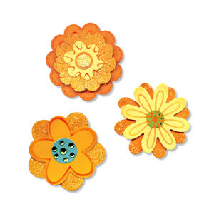 Sizzix - Sizzlits Die - Medium - 3 Pack - Flower Layers Set