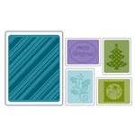 Sizzix - Textured Impressions - Embossing Folders - Christmas Set 4