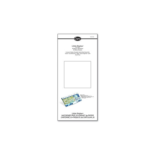 Sizzix - Little Sizzles - 6 x 13 Mat Board Pack, 6 White Sheets