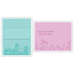 Sizzix - Textured Impressions - Embossing Folders - Baby Set 3, CLEARANCE