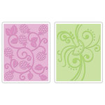 Sizzix - Textured Impressions - Embossing Folders - Fruit and Vine Set, CLEARANCE